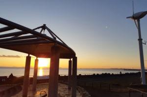 あらい浜風公園の夕日